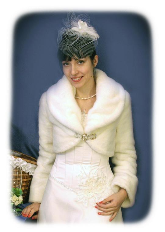 """Свадебная шубка, модель  """"Искусственный Мех 42 """""""