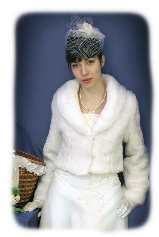 """Свадебная шубка, модель  """"Искусственный Мех 44 """""""